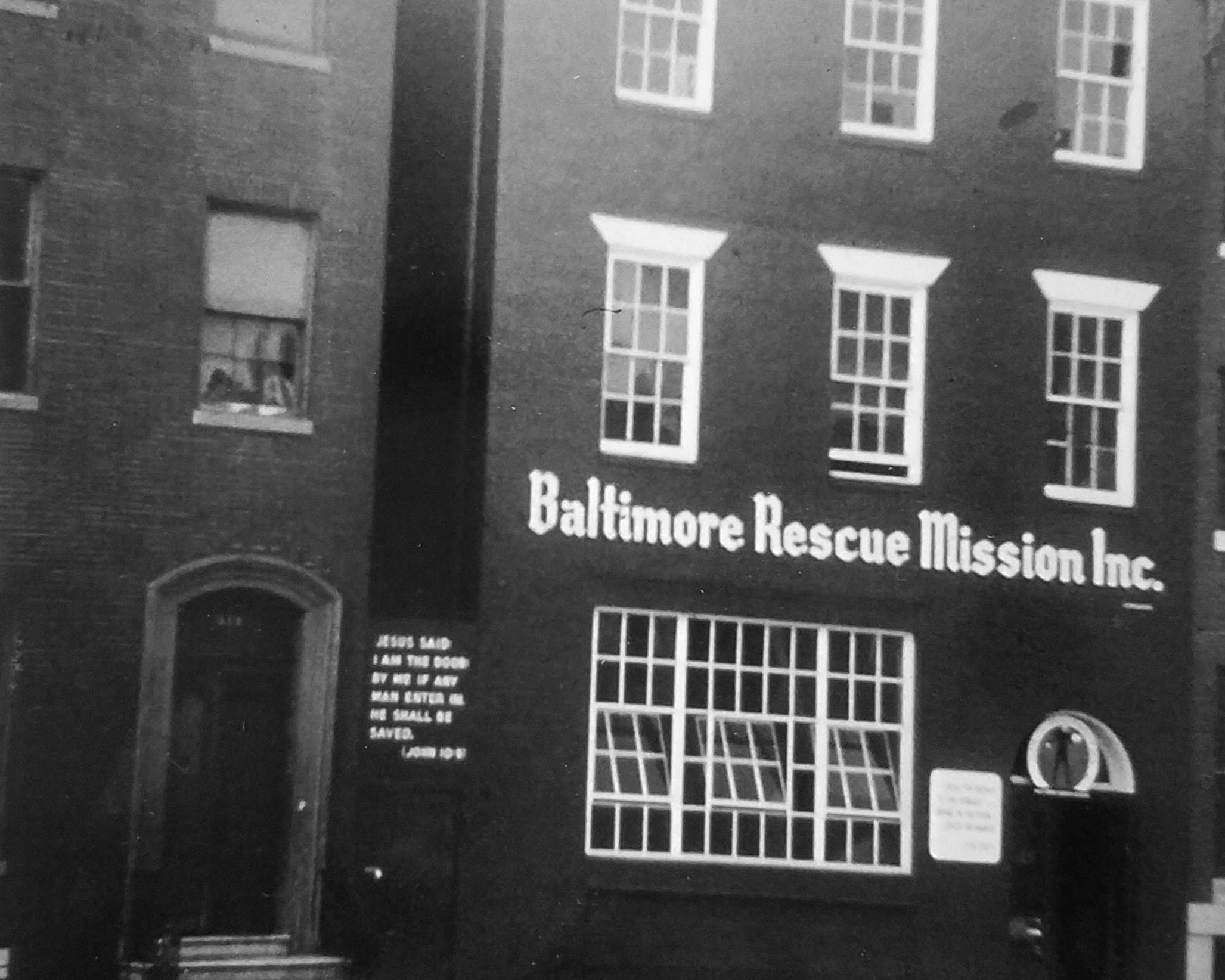 The Baltimore Rescue Mission building, circa 1963